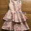 Vanessa Ruffle Layered Peachy Lace Dress thumbnail 7