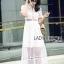 ชุดเดรสเกาหลีพร้อมส่ง เดรสผ้าลูกไม้สีขาวสไตล์แบรนด์ Self-Portrait thumbnail 4