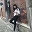 เสื้อผ้าเกาหลีพร้อมส่ง เสื้อเชิ้ตคอปก ทรงปาด thumbnail 7