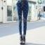 เสื้อผ้าเกาหลี พร้อมส่ง กางเกงยีนส์เกาหลี ใช้ผ้ายีนส์แท้ฟอกสีน้ำเงินสวย thumbnail 5