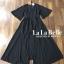 เสื้อผ้าแฟชั่นเกาหลีพร้อมส่ง จั้มสูทกางเกงขาสั้นคอวีแขนระบาย thumbnail 8