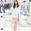เสื้อผ้าเกาหลีพร้อมส่ง เดรสเชิ้ต คอปกแขนยาวสีขาว thumbnail 5