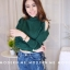 เสื้อผ้าแฟชั่นเกาหลีพร้อมส่ง เสื้อไหมพรมดีไซน์แขนเว้างานสวยแซ่บแมทช์ง่ายใส่สบายค่า thumbnail 8