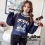 เสื้อผ้าเกาหลีพร้อมส่ง เสื้อกันหนาว แต่งระบายคอและปลายแขนแน่นๆ thumbnail 3