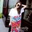 ชุดเดรสเกาหลี พร้อมส่งChic Graffiti monogram Dress thumbnail 6