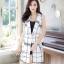 เสื้อผ้าเกาหลีพร้อมส่ง เบอร์เซอร์ลายสก๊อต ผ้าอยู่ทรงสวยมาก thumbnail 6