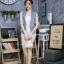 เสื้อผ้าแฟชั่นเกาหลีพร้อมส่ง เสื้อแจคเก็ตยีนส์แขนกุด ดีเทลรีดเพชรโลโก้แบรนด์ดิออร์ thumbnail 2