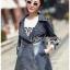 เสื้อผ้าเกาหลีพร้อมส่ง เบลเซอร์ยาวผ้าเดนิมสไตล์สปอร์ตเฟมินีน thumbnail 3