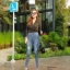 กางเกงยีนส์เอวสูง ขาดถากๆสวยมาก thumbnail 4