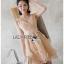 เสื้อผ้าเกาหลีพร้อมส่ง ค็อกเทลเดรสผ้าออร์แกนซ่าปักลายดอกไม้แบบ3D thumbnail 6