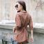 เสื้อผ้าแฟชั่นเกาหลีพร้อมส่ง เสื้อเชิ๊ตดีไซส์ติดกระดุม thumbnail 7