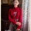 เสื้อผ้าเกาหลีพร้อมส่ง Set เสื้อ+กระโปรง เสื้อทรงสวยคอจีบมีโบตรงคอน่ารัก thumbnail 5