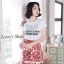 เสื้อผ้าเกาหลีพร้อมส่ง เอาใจสาวๆซุดแซ่ป ด้วยชุดเซ็ทเสื้อยืดสีขาวพื้นพิมพ์ลายD&G thumbnail 3