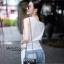เสื้อผ้าเกาหลีพร้อมส่ง เสื้อแขนกุดคอวีแต่งชายยาวว thumbnail 4