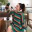 เสื้อผ้าเกาหลีพร้อมส่ง เสื้อไหมพรมแขนยาว โทนสีพาสเทล thumbnail 1