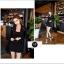 เสื้อผ้าเกาหลีพร้อมส่ง Set 3 ชิ้น เสื้อแขนยาว+ กระโปรงสั้น+เกาะอกสีดำ thumbnail 3