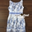 ชุดเดรสเกาหลีพร้อมส่ง Sweet Lace Bule Suquin Dress thumbnail 9