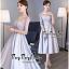 Luxurious Silver Embroidered Fashion Korea thumbnail 3