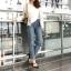 เสื้อผ้าแฟชั่นเกาหลีพร้อมส่ง กางเกงยีนส์ทรงบอยปลายขาตัดขาด thumbnail 7