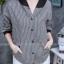 เสื้อผ้าเกาหลีพร้อมส่ง เสื้อคลุมแขนยาวลายทางมาพร้อมฮูด thumbnail 5