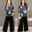 เสื้อผ้าเกาหลี พร้อมส่งGrace Floral Top + Pant Set thumbnail 1
