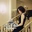 ( พร้อมส่งเสื้อผ้าเกาหลี) เดรสสีดำลุคเรียบหรู กิมมิคของชุดอยู่ที่ช่วงอกค่ะ ตกแต่งโบว์ เนื้อผ้าเรียบสวย thumbnail 4