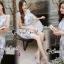 ชุดเดรสเกาหลีพร้อมส่ง Sweet Lace Bule Suquin Dress thumbnail 7