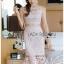 ชุดเดรสเกาหลีพร้อมส่ง เดรสผ้าลูกไม้สีชมพูทรงแขนกุดระบาย thumbnail 1