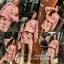 เสื้อผ้าแฟชั่นเกาหลีพร้อม่สง เสื้อปักมุกคู่กับกระโปรง พิมพ์ลายดอก thumbnail 1