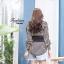เสื้อผ้าเกาหลีพร้อมส่ง เสื้อเชิ๊ตลายริ้ว thumbnail 6