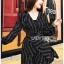 ชุดเดรสเกาหลีพร้อมส่ง มินิเดรสผ้าเครปสีดำพิมพ์ลายดาวสุดหรู thumbnail 3