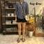 เสื้อผ้าเกาหลีพร้อมส่ง Stripe V Top เสื้อคอวี thumbnail 2