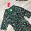 เดรสสีเขียวคอปกพิมพ์ลายกราฟฟิกดอกไม้ thumbnail 3