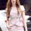 เสื้อผ้าเกาหลีพร้อมส่ง T-Shirt Lace Sweet Pastel Set thumbnail 2