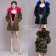 เสื้อผ้าเกาหลีพร้อมส่ง เสื้อกันหนาวตัวยาว บุขนด้านในทั้งตัว มีฮู้ด thumbnail 2