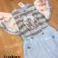 เสื้อผ้าแฟชั่นเกาหลีพร้อมส่ง Jumpsuit ขายาวแขนระบาย thumbnail 13