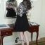 ชุดเดรสเกาหลีพร้อมส่ง All New Self P Floral LAce Luxury Dress thumbnail 4