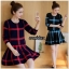 เสื้อผ้าเกาหลีพร้อมส่ง ชุดเซ็ทเสื้อกระโปรงไหมพรมน่ารักๆ thumbnail 3