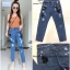 เสื้อผ้าเกาหลีพร้อมส่ง กางเกงยีนส์ ขายาว ทรง BOY thumbnail 4