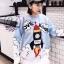 เสื้อผ้าเกาหลีพร้อมส่งSweater ตัวยาว ผ้าไหมพรมทอลายแน่นๆ thumbnail 6