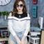 เสื้อผ้าเกาหลีพร้อมส่งเสื้อเชิ้ตแขนยาวต่อผ้ายืดช่วงบน ดีไซน์เปิดไหล่ thumbnail 12