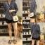 เสื้อผ้าเกาหลีพร้อมส่ง Stripe V Top เสื้อคอวี thumbnail 7