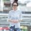 เสื้อผ้าเกาหลีพร้อมส่งเสื้อเชิ้ตลายตาราง thumbnail 7