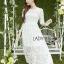 ชุดเดรสเกาหลีพร้อมส่ง เดรสผ้าลูกไม้สีขาวสไตล์เจ้าหญิงสุดหวาน thumbnail 1