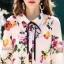 เสื้อผ้าเกาหลีพร้อมส่ง เสื้อเชิ้ตคอปกปริ้นลายดอก แบบ Gucci ดีไซน์เรียบหรู thumbnail 5