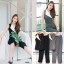 เสื้อผ้าเกาหลีพร้อมส่งเซ็ตสไตล์มินิมอลดีไซน์เรียบเก๋ thumbnail 8