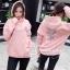 เสื้อผ้าเกาหลีพร้อมส่ง เสื้อกันหนาวแบบมีฮู้ด ลายปักนกทั้งหน้าหลังค่ะ thumbnail 4