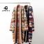 เสื้อผ้าแฟชั่นพร้อมส่ง เสื้อคลุมไหมพรมตัวยาว ทอลายกราฟฟิค thumbnail 1