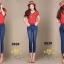 เสื้อผ้าเกาหลีพร้อมส่ง กางเกงยีนส์ทรงเดฟ ผ้ายีนส์ฮ่องกง thumbnail 8