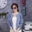 เสื้อผ้าเกาหลีพร้อมส่ง เสื้อคลุมงานยีนส์ผ้าสวยมากค่า ฟอกสี thumbnail 2